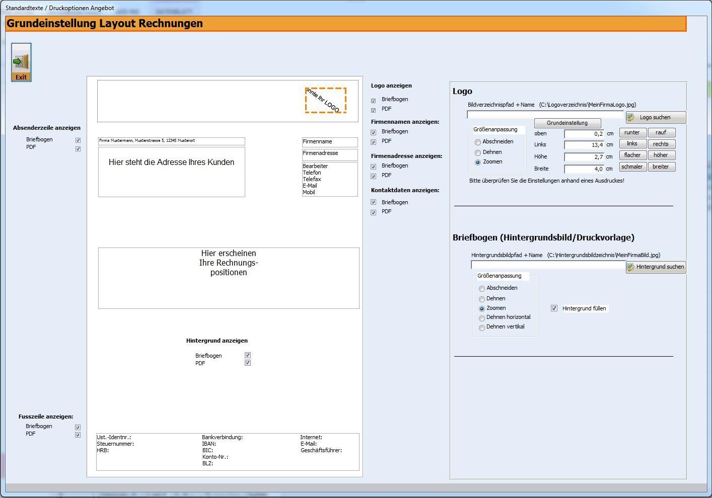 Rechnungsprofi Standardtexte Für Rechnungen Erfassen
